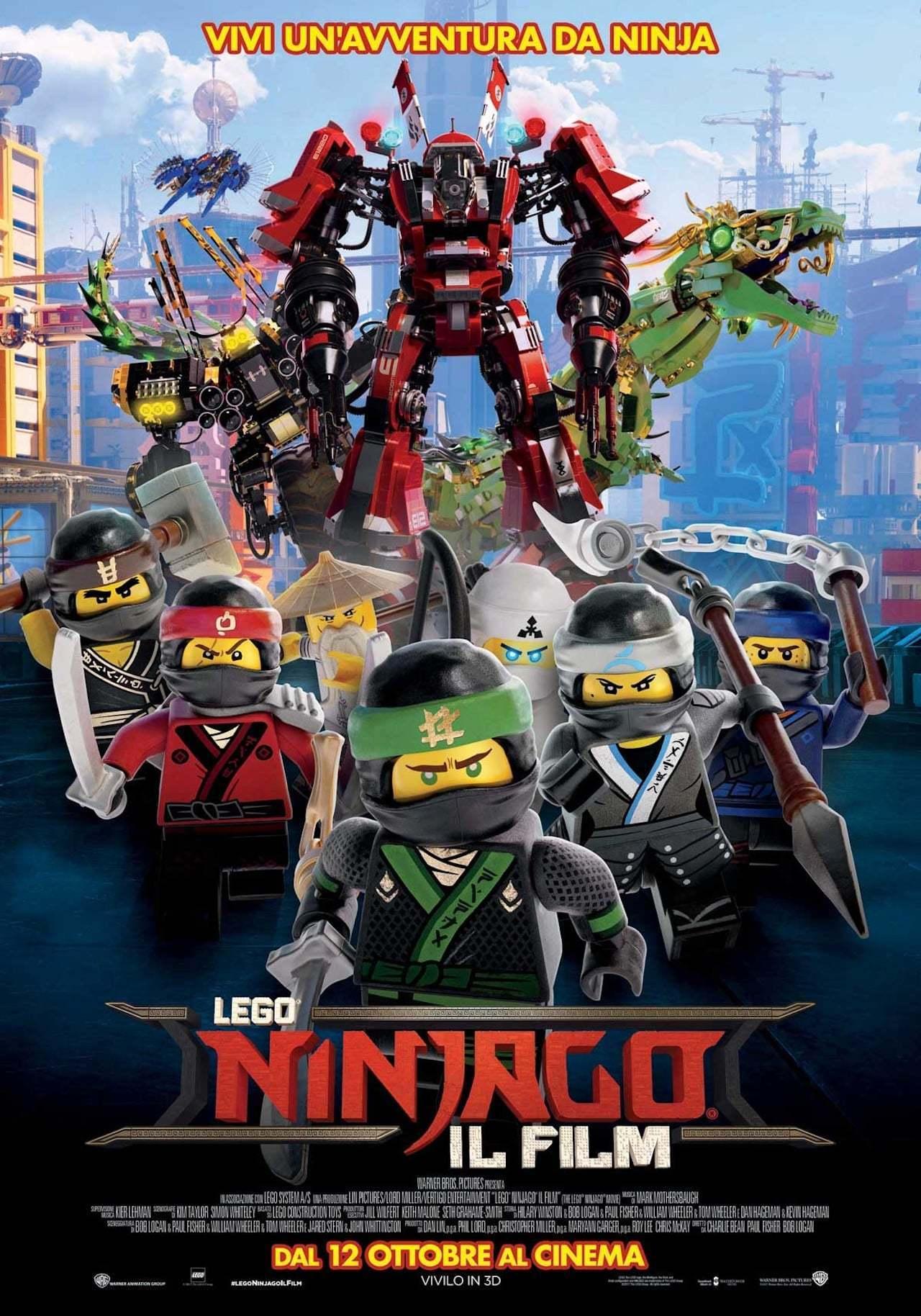 "Poster for the movie ""LEGO Ninjago - Il film"""