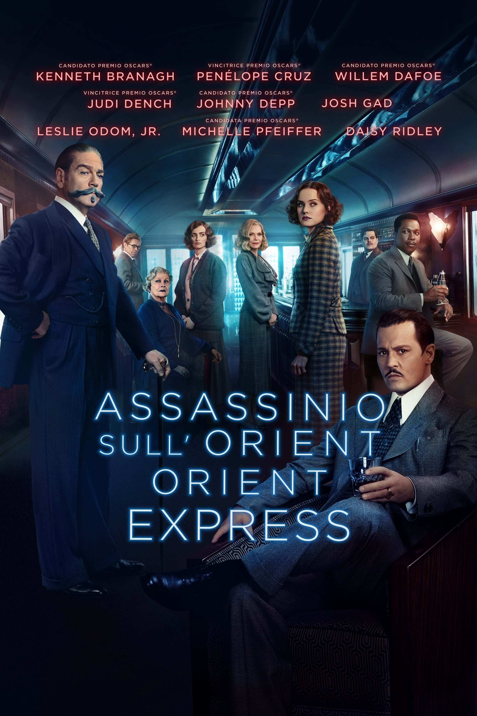 "Poster for the movie ""Assassinio sull'Orient Express"""