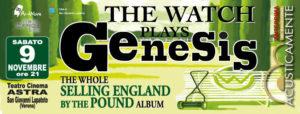 THE WATCH PLAYS GENESIS